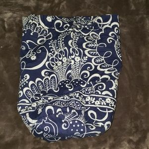 Vera Bradley Twirly Birds Navy Lunchbag